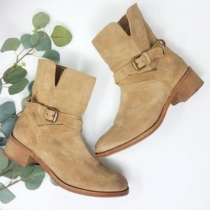 J. CREW Leather Strappy Boots Booties 7.5